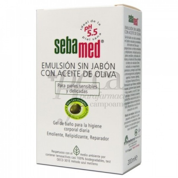 SEBAMED EMULSION SIN JABON ACEITE DE OLIVA 200ML