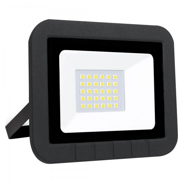 Proyector led plano negro   20w.fria