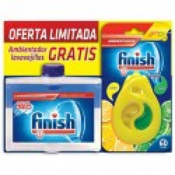 Finish lavavajillas limpia maquinas 250ml + ambientador limon