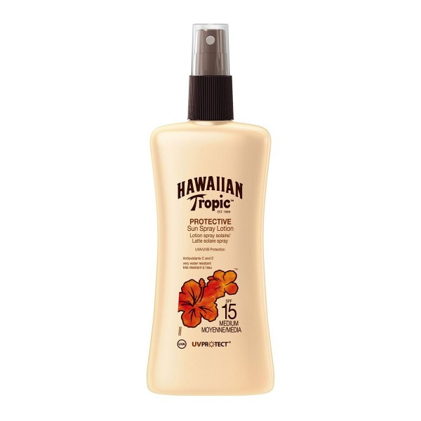 Hawaiian tropic protective sun spray lotion uv spf15 medium 200ml vaporizador