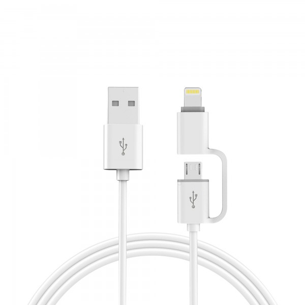 Cable onlex cargador iphone+ android 2a.