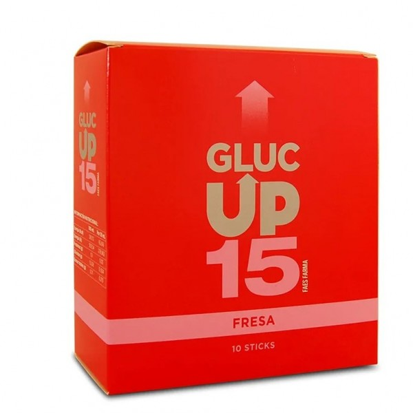 GLUC UP FRESA 15 GR X 10 STICKS DE 30 ML
